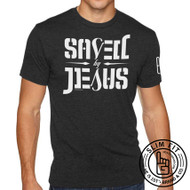 SAVED BY JESUS - SS (Black) SLIM