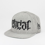 Christ Ambigram Snapback - Sports Heather Gray (Matthew)