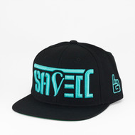 SAVED Ambigram Snapback (black - black) TEAL