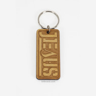 JESUS SAVED AMBIGRAM KEY CHAIN (WOOD)