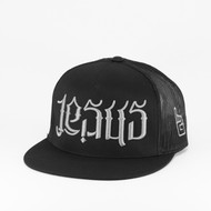 JC Snapback Trucker - Black & Gray Letter