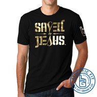 SAVED BY JESUS - SS (Black with Gold Foil) ATHLETIC