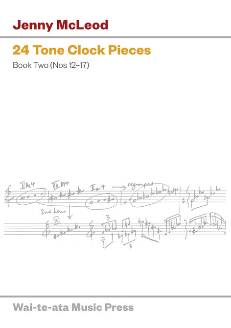 24 Tone Clock Pieces, Book II: Nos 12–17 (physical score)