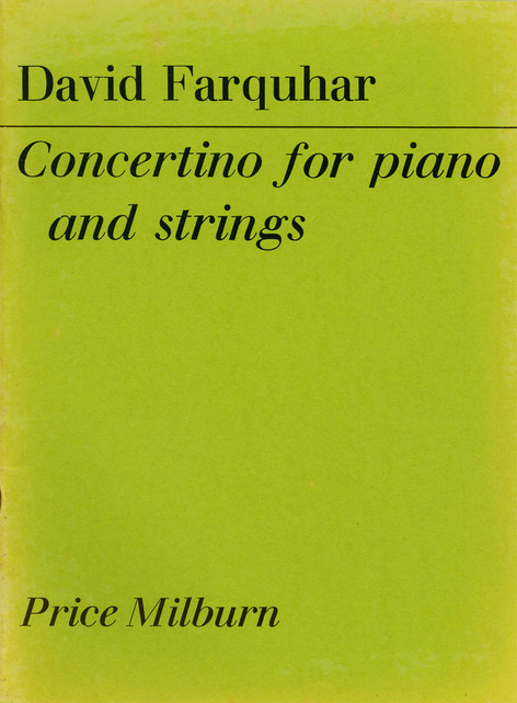 Concertino for piano and strings (2-piano rehearsal score)