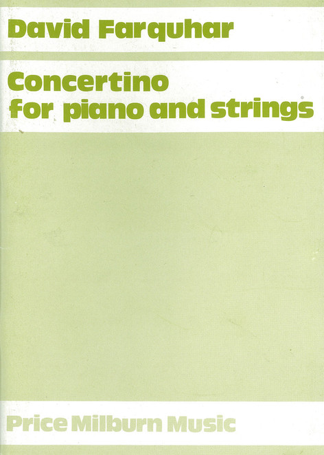 Concertino for piano and strings (Price Milburn)
