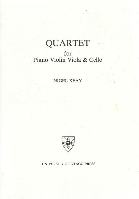 Quartet for pf, vn, va & vc (University of Otago)