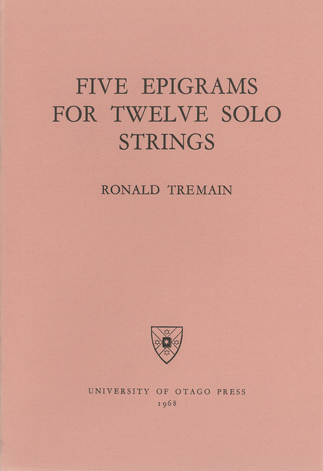 Five Epigrams for 12 Solo Strings (University of Otago)