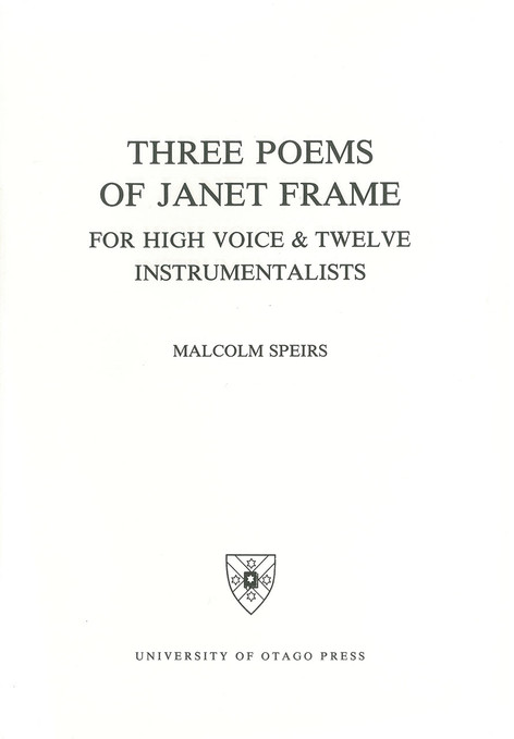 Three Poems of Janet Frame (University of Otago)
