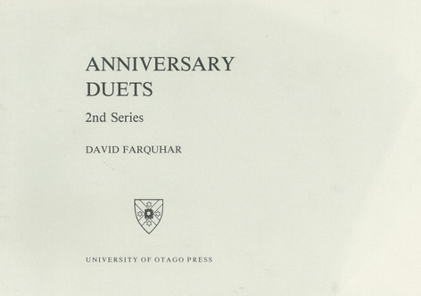 Anniversary Duets (University of Otago)