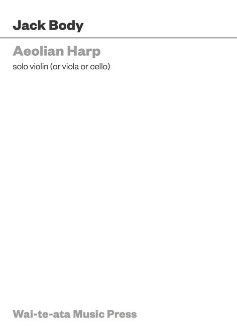 Aeolian Harp (PDF only)