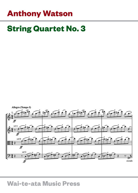String Quartet No. 3 (new edition)