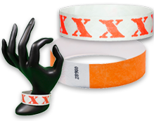 Wholesale Admission Wristbands for Parties, Concerts, Sports Events, etc.