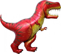 "XL 41"" T Rex Dinosaur Super Shape Mylar Foil Balloon Party Decoration"