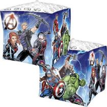 "15"" Marvel Avengers Cubez Balloon Foil Mylar Ultra Shape Superhero Team Party"