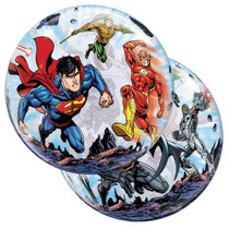 """22""""  DC Justice League Plastic Bubble Stretchy Superhero Team Party Decoration"""