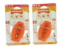 Dog Toy Treat Holder Small Cone Vanilla Infused Nylabone Fun N' Fit Lot of 2