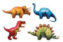 4 Dinosaur Foil Mylar Balloons Party Decorations Triceratops Stegosaurus T-Rex