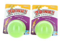 2 PK Throw N Glow Dog Toy Balls Bouncing Fetch Zoink! Durable Strong Interactive