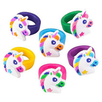 Rubber Unicorn Rings - 36 Count