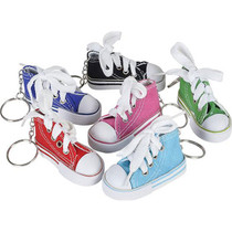 """Rhode Island Novelty Canvas Sneaker Keychains 3"""" - 12 Count"""