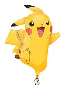 "XL 31"" Pikachu Pokemon Super Shape Mylar Foil Balloon Birthday Party Decoration"