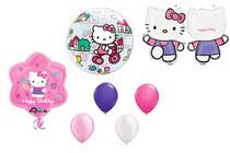 7pc Hello Kitty Balloon Set XL Mylar Latex Bubble Happy Birthday Decorating Kit