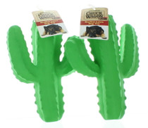 Lot of 2 Chuck Wagon Cactus Dog Toys Stuff Latex Rubber Pet Fun Squeakers