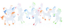 "Lot of 12 White Vinyl Unicorns 3"" Princess Toys Fantasy Birthday Party Favors"