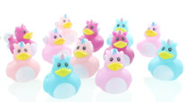 "Lot of 12 Unicorn Rubber Duckies 2"" Fantasy Kid's Birthday Party Favor Ducks"
