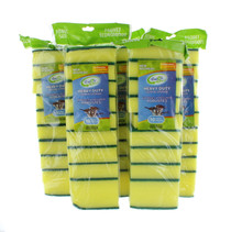 50 Green and Yellow Sponges Kitchen Scrubbers Cleaning Dishwashing Scouring Pads