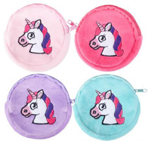 Lot of 12 Unicorn Coin Purses Girl's Birthday Party Favors Fantasy Zipper Pouch