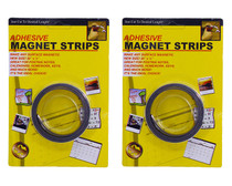 """Lot of 2 Adhesive Magnet Strips 1/2"""" Thick 60"""" Total Length Magnetic Cut to Size"""