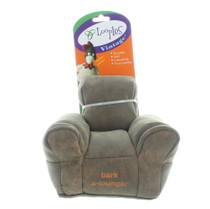 Loopies VIntage Bark A-Lounger Faux Leather Dog Toy Stuffed Soft w/ Pet Squeaker