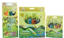 Kids Coloring Set Pencils Jumbo Crayons & Markers Kids Artist Tools Nature Play