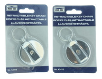 2 Heavy Duty Retractable Badge Holder Reel Metal ID Belt Clip Key Ring Name Tag
