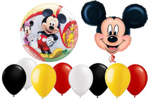 10pc Mickey Mouse Balloon Set Disney XL Mylar Latex Bubble Decorating Party Kit
