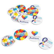Lot of 12 Autism Awareness Buttons Pins Support