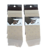 6  Pairs George Ladies Trouser Socks Khaki Tan Brown Casual Women's Shoe Sz 4-10