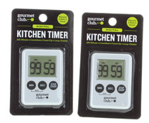 Kitchen Timers 100 Minute Cooking Time Magnetic w/ Stand Lot of 2