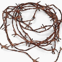 Lot of 2 Rusty Barbwire Cord Nylon Halloween Haunted House Western Party Decor
