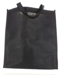 Black Tote Reusable Grocery Bags Non-Woven Lot of 10