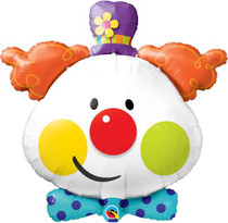 """XL 36"""" Cute Clown Super Shape Mylar Foil Balloon Circus Carnival Party"""