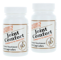 Lot of 2 Nature's Benefits Joint Comfort Dietary Supplement 100 Capsules