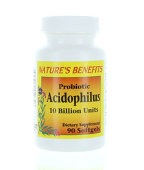 Nature's Benefits Probiotic Acidophilus Dietary Supplement 90 Softgels