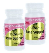 Lot of 2 Nature's Benefits Women's Bone Support Dietary Supplement 80 Tablets