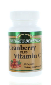 Lot of 3 Nature's Benefits Cranberry 500MG Plus Vitamin C 90 Capsules