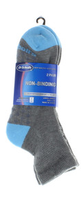 4 Pair Dr. Scholl's Women Ankle Socks Non Binding Gray With Blue Shoe Size 4-10