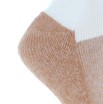 2 Pairs Copper Sole White Ankle Socks Large