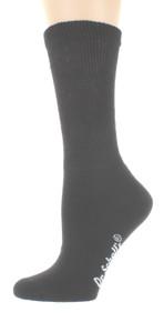 4 Pairs Dr. Scholl's Mens Non Binding Crew Socks 2 Black 2 Tan Shoe Sz 7-12