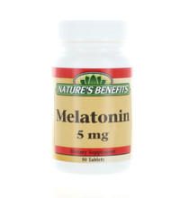 Nature's Benefits Melatonin 5 mg Dietary Supplement 100 Tablets Lot of 2